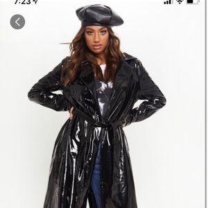 Black Vinyl Coat
